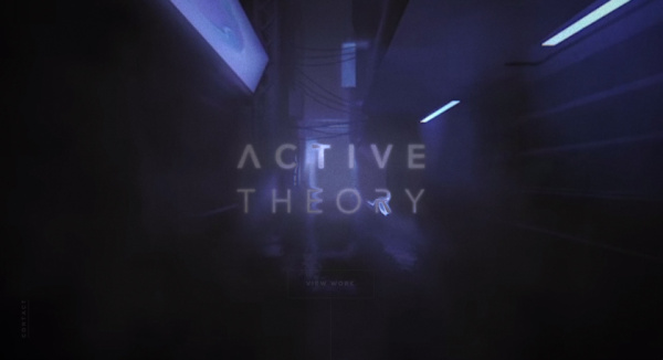 Active Theory Interactive Intro Page